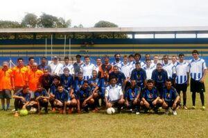 Equipe enfrentou o município de Água Clara (MS), no Estádio Municipal